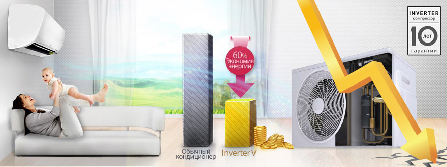 кондиционер LG ART COOL Gallery Inverter V в алматы